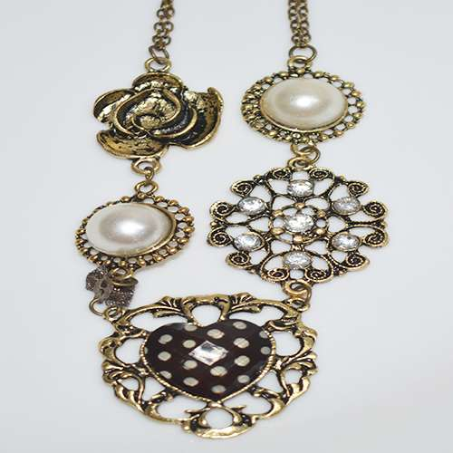 Black Golden Necklace for Womens