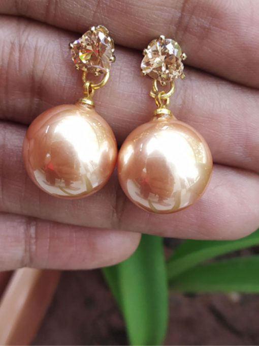 Trendilook Attractive Cute Shinning Ball Pearl Earring