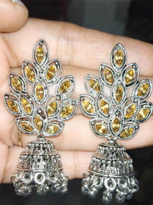 Trendilook German Silver with Kundan Earring