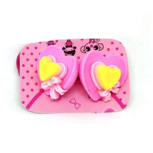 Heart Cap Flower Rubberband for Kids
