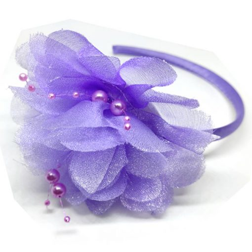 Trendilook Purple Stylish Kids Lace Hairband for Party