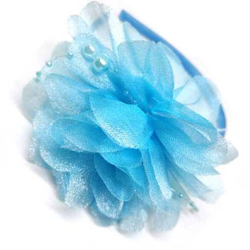 Trendilook Blue Stylish Kids Lace Hairband for Party