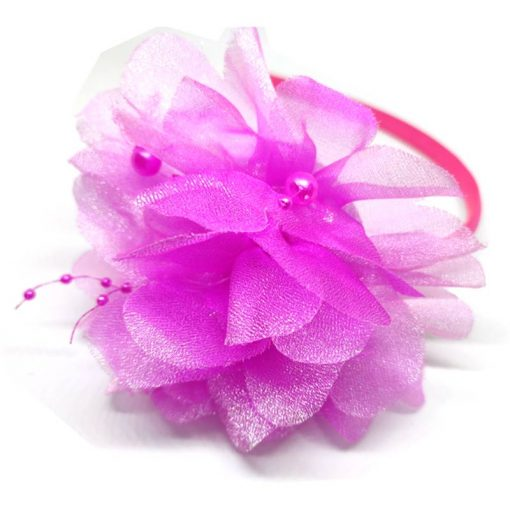 Trendilook Pink Stylish Kids Lace Hairband for Party