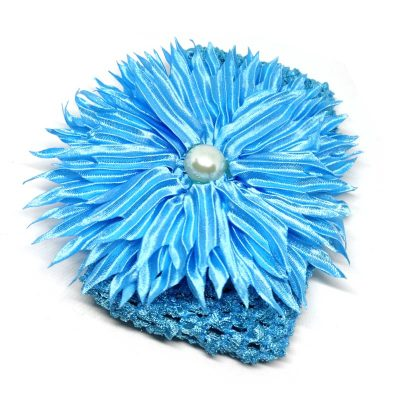 Trendilook Blue Sun Flower Elastic Hairband