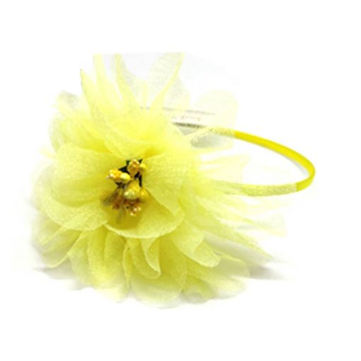 Trendilook Yellow Flower Net and Tulip Hairband