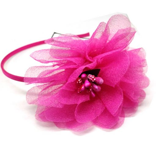 Trendilook Pink Flower Net and Tulip Hairband