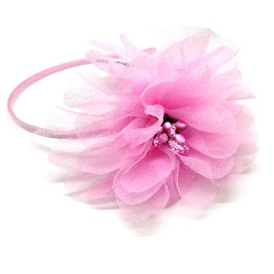 Trendilook Baby Pink Flower Net and Tulip Hairband