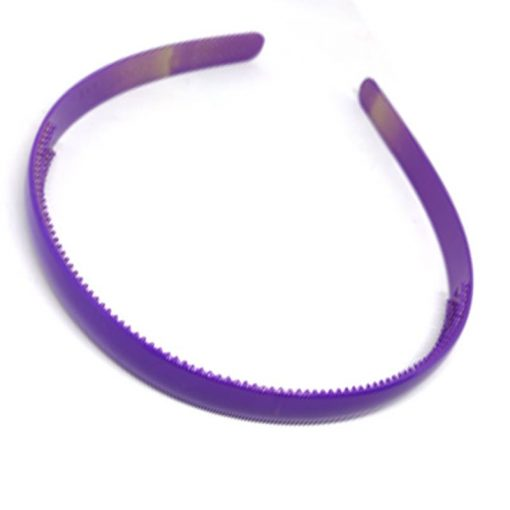 Trendilook Purple Plain Small Unbreakable Hairband