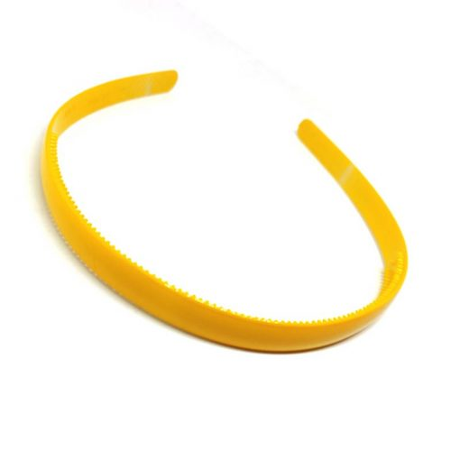 Trendilook Yellow Plain Small Unbreakable Hairband