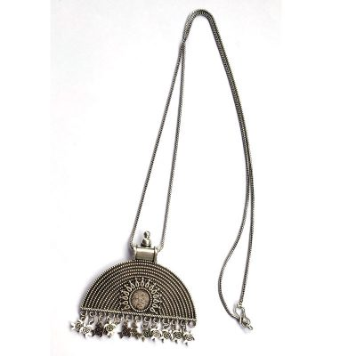 Trendilook Oxidized Silver Neck Piece for Girls
