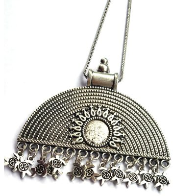 Trendilook Oxidized Silver Neck Piece for Girls