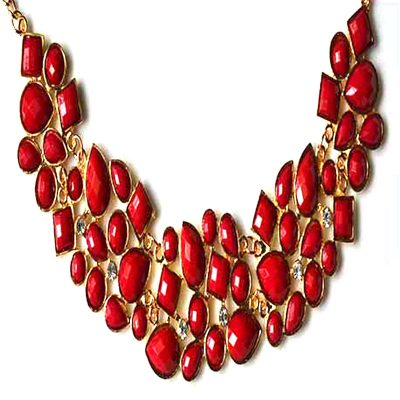 Red Necklace for Womens
