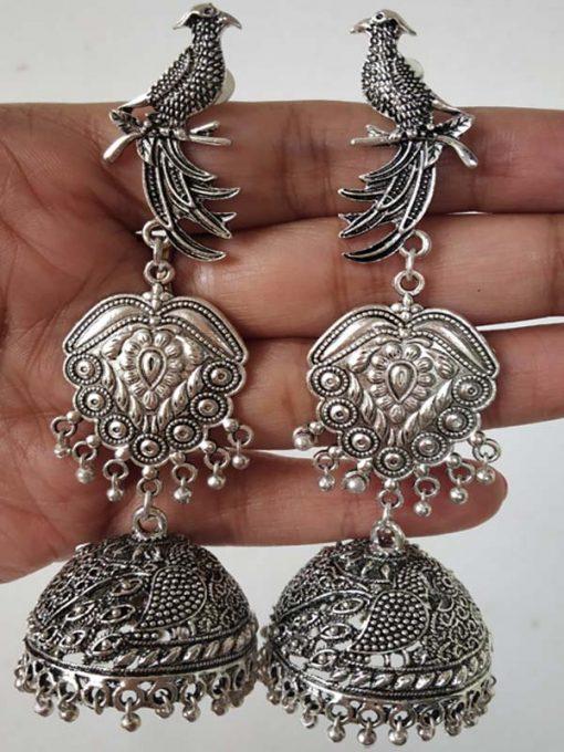 Trendilook Premium Quality German Silver Big Drop Earring