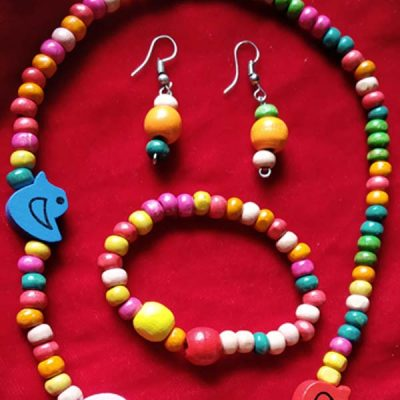 Trendilook Kids Wooden Beads Necklace Set