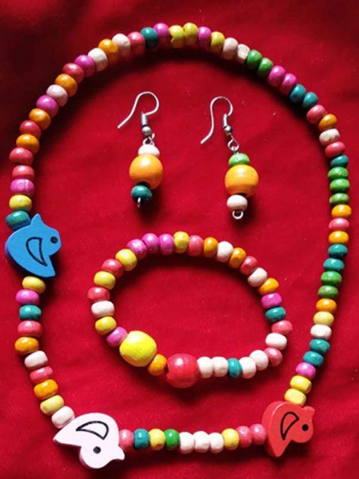 Trendilook Kids Wooden Beads Necklace Set