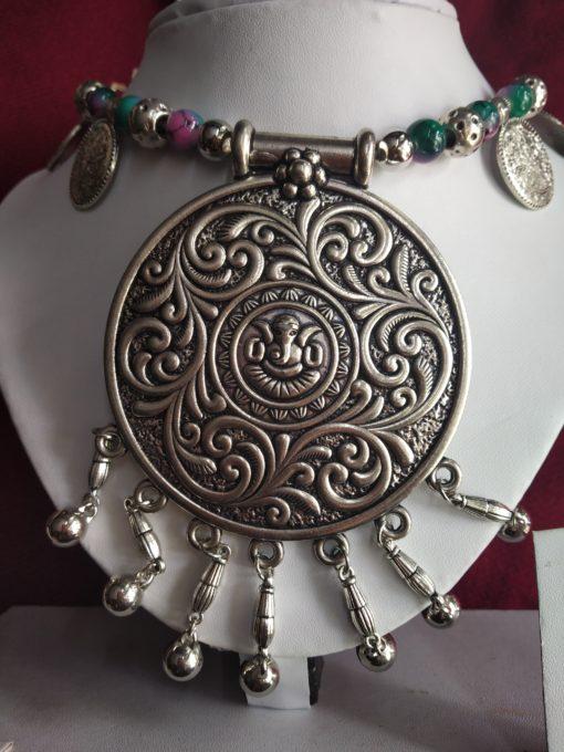 Trendilook Coin Premium Quality Beaded Neckpiece