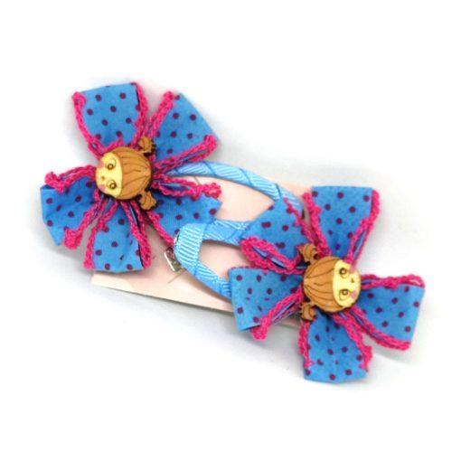 Jute Flower Multicolored Clips for Kids