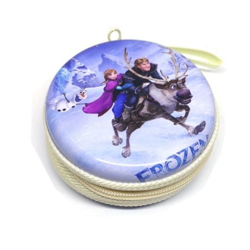 Frozen Theme2 Coin Tin Purse with zipper for kids