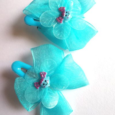 Trendilook Net Flower Clip for Girls