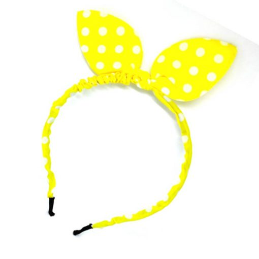 Trendilook Yellow Bunny Bobby Print Hairband