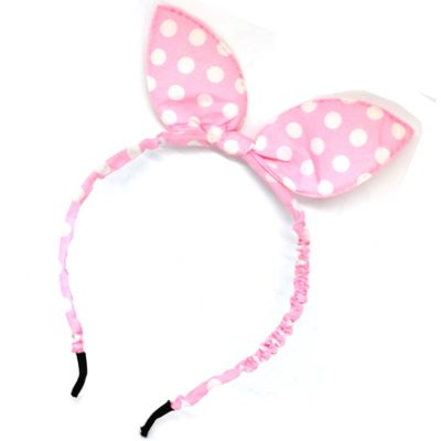Trendilook Baby Pink Bunny Bobby Print Hairband