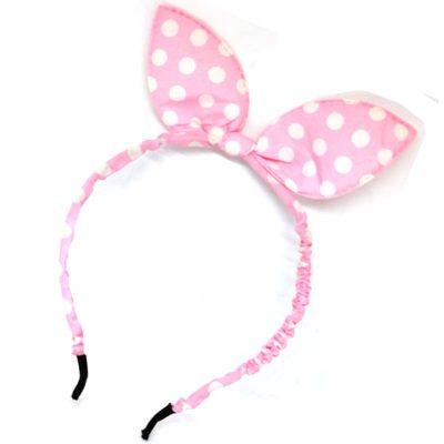 Trendilook Baby Pink Bunny Bobby Print Hairband