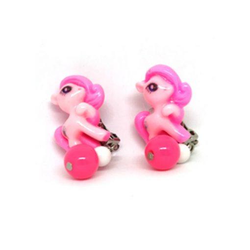 Trendilook Baby Pink Kids Unicorn Clip On (Tic-Tak) Earring