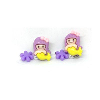 Trendilook Yellow Kids Fish Doll Clip On (Tic-Tak) Earring