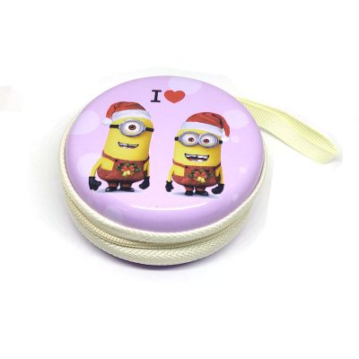 Minion Theme1 Coin Tin Purse with zipper for kids