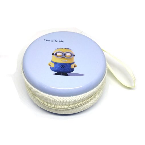 Minion Theme2 Coin Tin Purse with zipper for kids