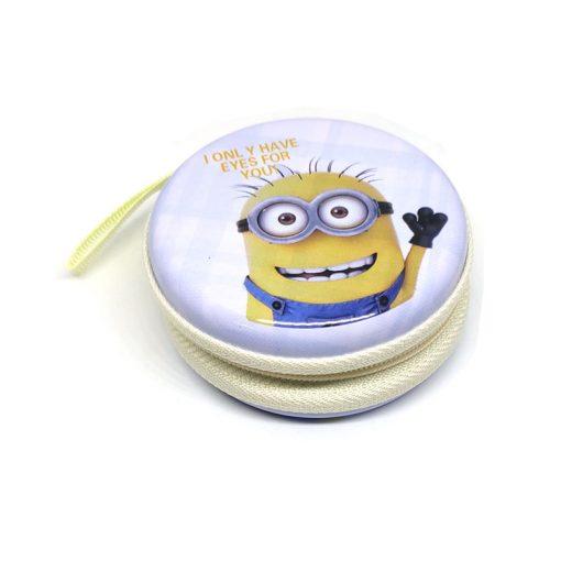 Minion Theme3 Coin Tin Purse with zipper for kids