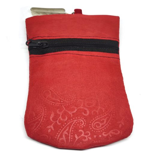 Trendilook Red Stylish Velvet Mobile Pouch Sling Bag for Ladies and Girls