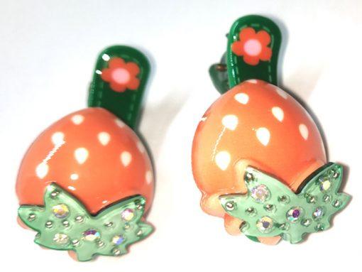 Trendilook Cherry Stone Work Clips for Kids