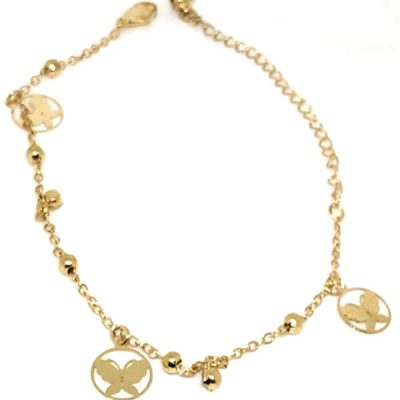 Trendilook Golden Bracdelet + Anklet For Ladies and Girls