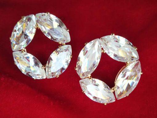 Trendilook Geometric Stud Crystal Earring