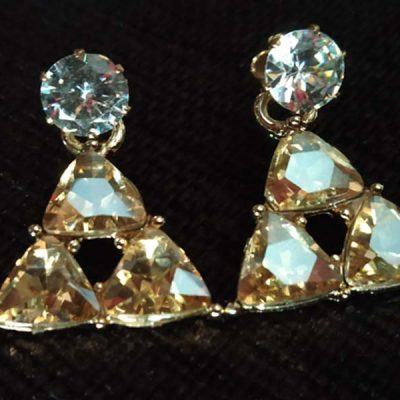 Trendilook Crystal Triangle Cute Drop Earring