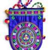 Trendilook Handmade Blue Circle Big Sling Bag for Ladies and Girls