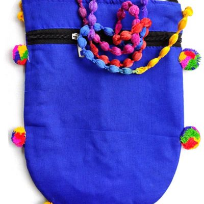 Trendilook Handmade Blue Circle Big Sling Bag for Ladies and Girls