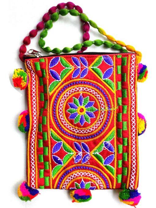 Trendilook Handmade Orange Flower Small Sling Bag for Ladies and Girls