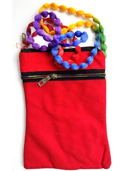 Trendilook Handmade Orange Damroo Small Sling Bag for Ladies and Girls
