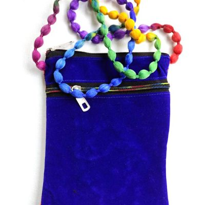 Trendilook Handmade Blue Peacock Small Sling Bag for Ladies and Girls