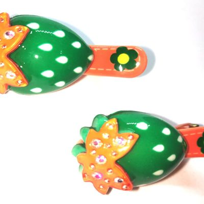 Trendilook Cherry Stone Work Clips for Kids