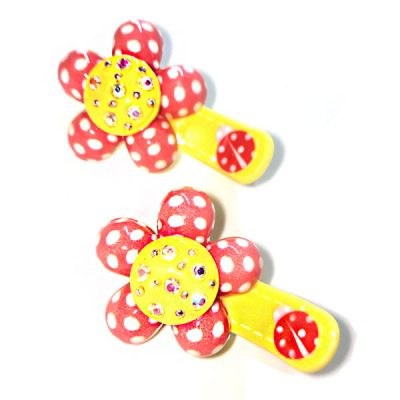Trendilook Flower Stone Work Clips for Kids