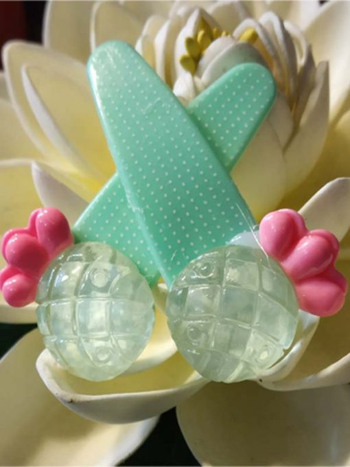 Trendilook Pineapple Shape Cute Clips one pair For Kids