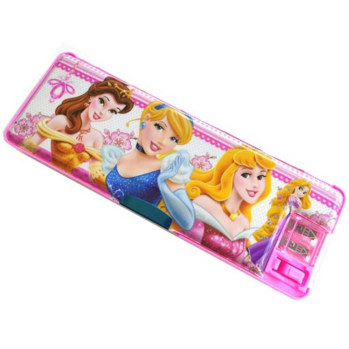 Trendilook Princess Magnetic Dual Side Pencil Box New Design with Light Lamp