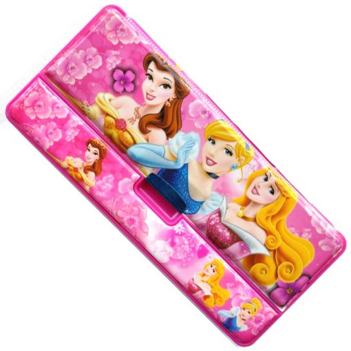 Trendilook Princess Magnetic Three Side Pencil Box with Multiplication Table Inside