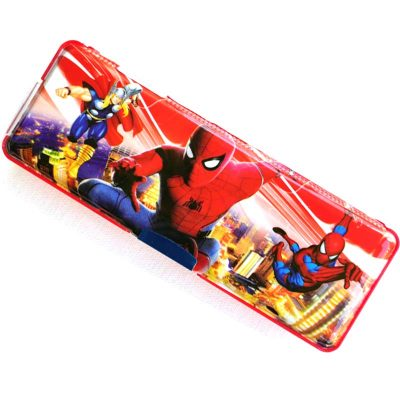Trendilook Spiderman Magnetic Dual Side Pencil Box with LED Light