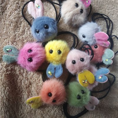 Trendilook Bunny Fur Multi Colour Rubberband