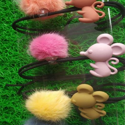 Trendilook Mouse with Fur Rubberband