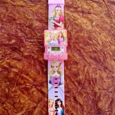 Princess Square Musical Digital Watch with Light for Kids